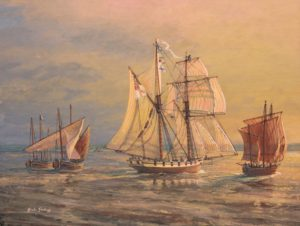 HMS Pickle off The Lizard