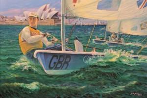 Ben Ainslie sailing