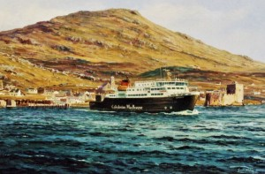 Clansman departing Barra