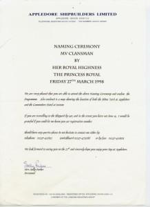 Clansman Royal Invitation