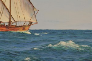 Dhow and Dolphins detail 3