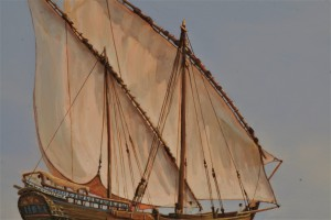 Dhow and Dolphins detail 2