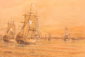Laperouse and the First Fleet, Botany Bay