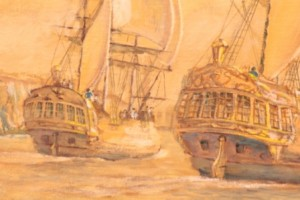 Laperouse and the First Fleet (detail)