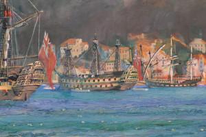 Nelson at Gibraltar (detail 2)
