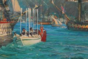 Nelson at Gibraltar (detail 1)