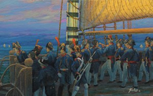 Trafalgar Dawn, The French Perspective, detail 1
