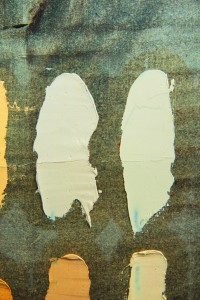 Nelson's Bright Yellow, detail, 'Winsor & Newton' light gold compared with 'Rembrandt' yellow ochre..