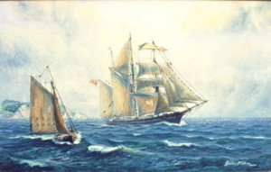 Waterwitch, last engineless British square rigger