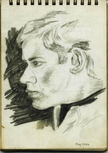 gordon frickers self portrait drawn May 1966