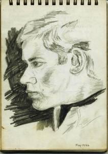 gordon frickers self portrait drawn May 1966