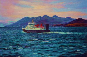 Outward bound, the small island ferry Lochnevis