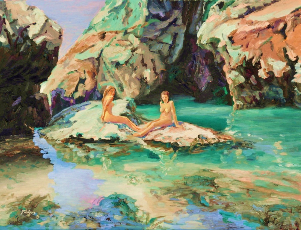 'Trevaunance Cove' Fine Art Print – Laurie McCall Art ... |Painting Artist Directory Cove