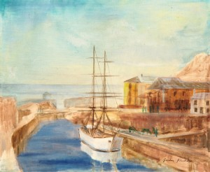 The White Brig, sketch, Port of Charlestown,