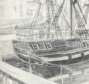 detail fo drawing made at Charlestown
