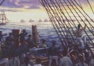"""""""Trafalgar Dawn"""" detail"""