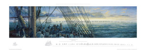 Trafalgar Dawn with margin sketch as printed