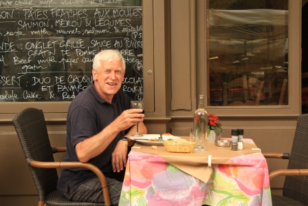 Gordon Frickers at St Emilion Aug 2013