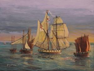 HMS Pickle off Mounts Bay IMG_3457 d