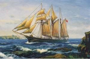 The Jane Banks of Fowey, Cornwall arriving at Bermuda.