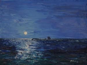 Moonlight Patrol, Bay of Biscay, HM Submarine Unique