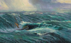 """Spirit of Mystery, Southern Ocean"" available as a signed print, original owned by Pete Goss MBE"