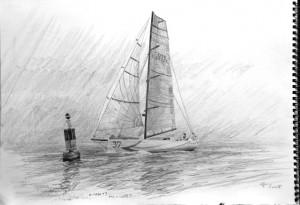 Cutlass 40 working drawing,