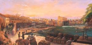 Port of Gaillac 1863, original 2 m x 1 m