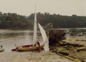 Launching at Caffa Mill,  Fowey, (Bodinnick Ferry)