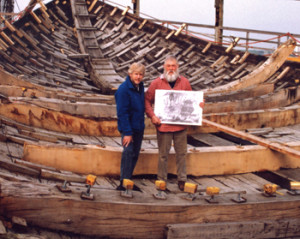 With Willum Voss, master ship wright.