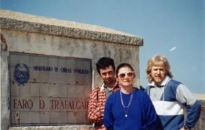 At Cape Trafalgar with Michele Huve & Nichole Poullaouec
