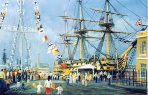 """Dockyard 400"", painted on location"