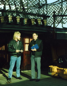 The Quarter deck aboard HMS Victory, Gordon Frickers and Peter Goodwin, circa 1996