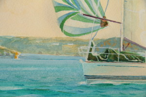 Yachts off the Yealm (detail 1)