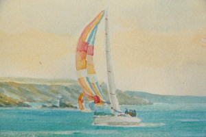 Yachts off the Yealm (detail 2)