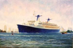 Norway departing Miami painted 30.05.1999