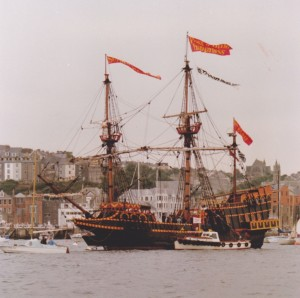 GoldenHinde Replica Famouth July 1982, author's photo