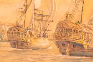 Laperouse entering Botany Bay (detail)