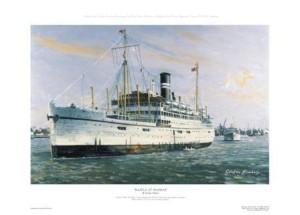 Print: British India Steam Navigation Company 'Rajula'