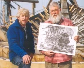 With Master shipwright Willum Voss at batavia Wherf, Lelystad