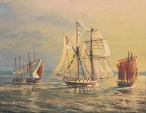 HMS Pickle, The Trafalgar Messenger ~ by Gordon Frickers
