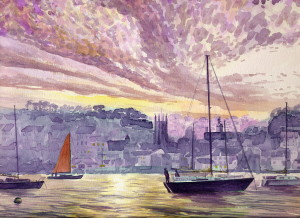 Falmouth Harbour, sunset