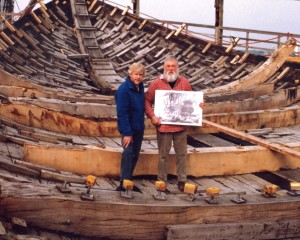 Willum Voss, master shipwright and Gordon Frickers