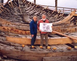 Willum Voss, master shipwright and Gordon Frickers