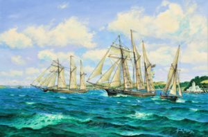 Schooners Off Falmouth, Cornwall