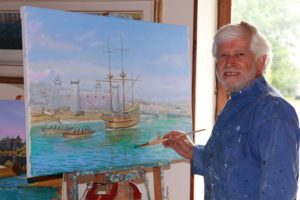 Painting Mayflower 400