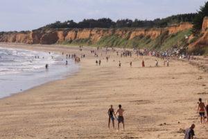 la plage de la Mine d'Or, France