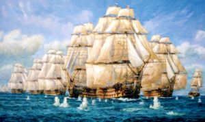 Nelson, Trafalgar, paintings