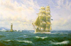 Ship entering Plymouth