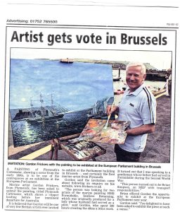 E U Parliament exhibition, marine paintings at Brussels